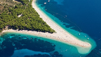 Holiday in Island Brac island in Croatia