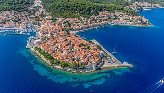 Holiday in Korcula city in Croatia