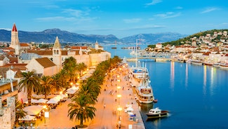 Holiday in Trogir city in Croatia