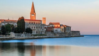 Holiday in Porec city in Croatia