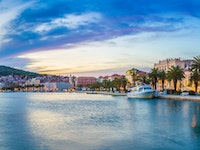 Holiday in Split city in Croatia