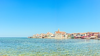 Holiday in Umag city in Croatia