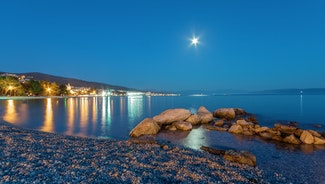 Holiday in Crikvenica city in Croatia