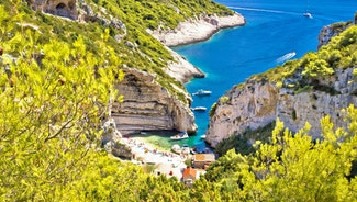 Holiday in Island Vis island in Croatia