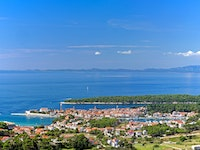 Holiday in Rab city in Croatia
