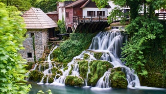 Holiday in Slunj city in Croatia