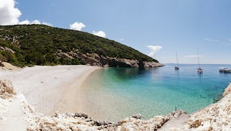 Holiday in Cres city in Croatia