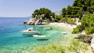 Holiday in Makarska city in Croatia