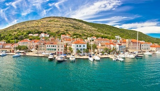 Holiday in Vis city in Croatia