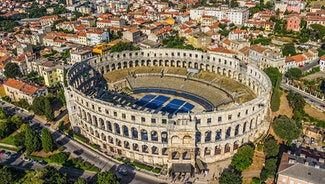 Holiday in Pula city in Croatia
