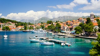 Holiday in Cavtat city in Croatia