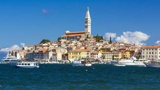 Holiday in Novigrad city in Croatia