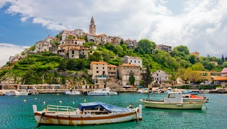 Holiday in Krk city in Croatia