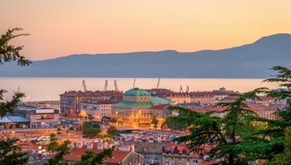 Holiday in Rijeka city in Croatia