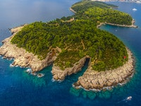 Holiday in Lokrum island in Croatia