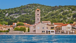Holiday in Murter city in Croatia